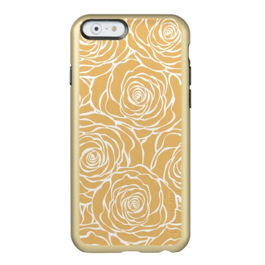 Peonies,floral,white,yellow,pattern,girly,modern,b Incipio Feather® Shine iPhone 6 Case