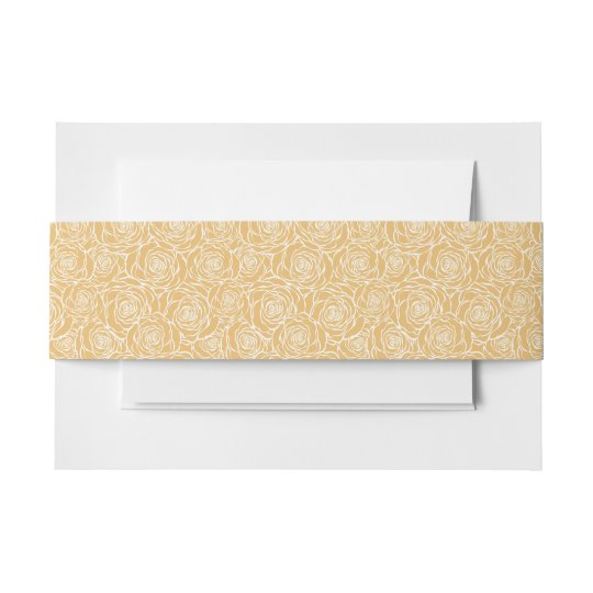 Peonies,floral,white,yellow,pattern,girly,modern,b Invitation Belly Band