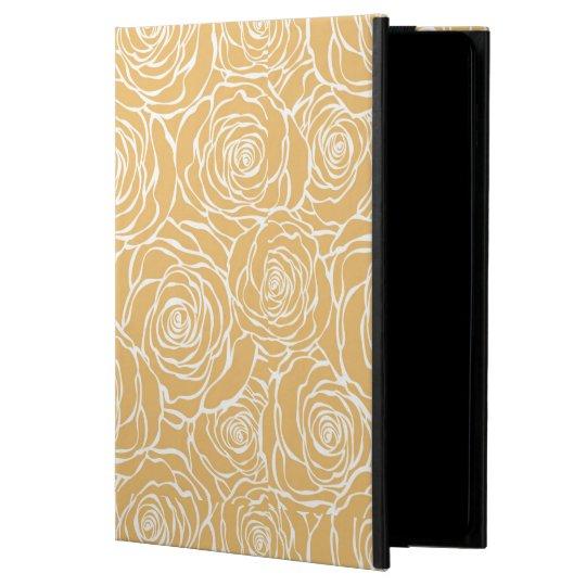 Peonies,floral,white,yellow,pattern,girly,modern,b iPad Air Case