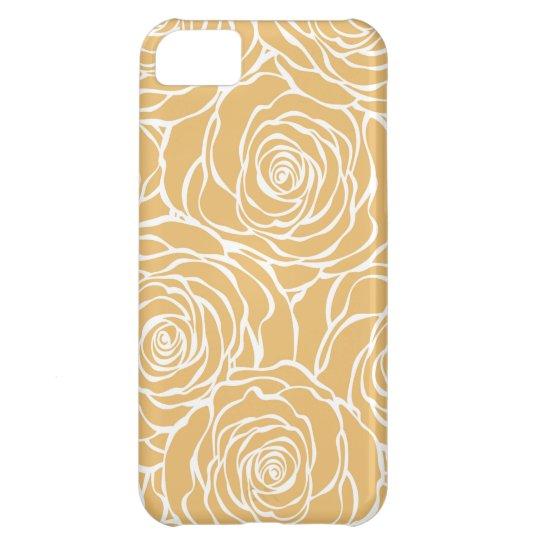 Peonies,floral,white,yellow,pattern,girly,modern,b iPhone 5C Case