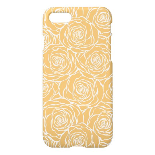 Peonies,floral,white,yellow,pattern,girly,modern,b iPhone 8/7 Case