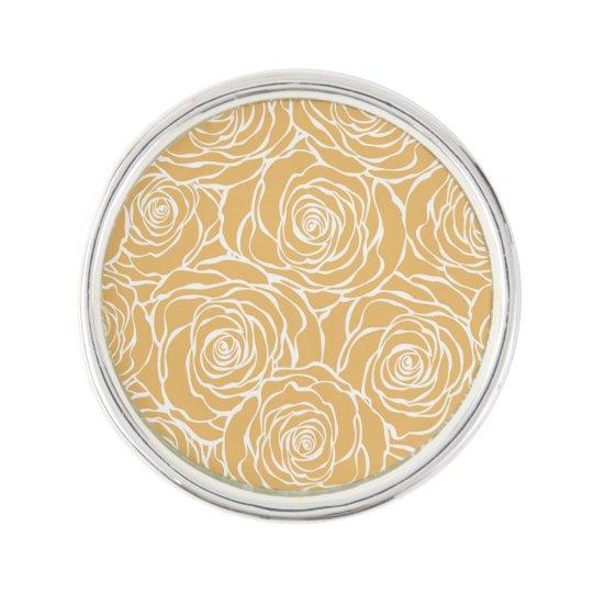 Peonies,floral,white,yellow,pattern,girly,modern,b Lapel Pin