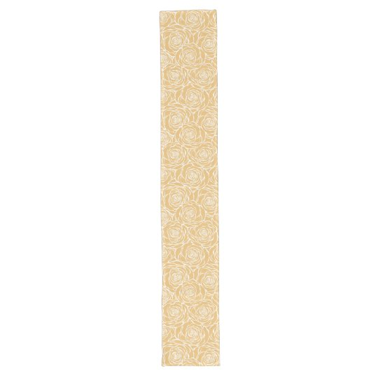 Peonies,floral,white,yellow,pattern,girly,modern,b Long Table Runner