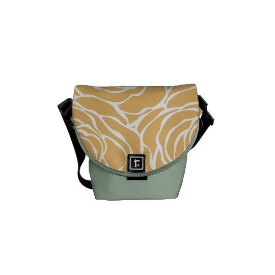 Peonies,floral,white,yellow,pattern,girly,modern,b Messenger Bag