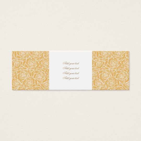 Peonies,floral,white,yellow,pattern,girly,modern,b Mini Business Card