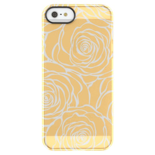 Peonies,floral,white,yellow,pattern,girly,modern,b Permafrost® iPhone SE/5/5s Case
