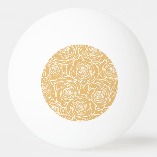 Peonies,floral,white,yellow,pattern,girly,modern,b Ping Pong Ball