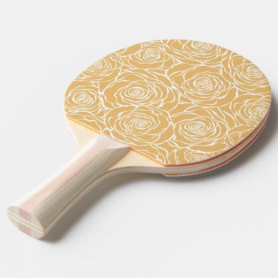 Peonies,floral,white,yellow,pattern,girly,modern,b Ping Pong Paddle