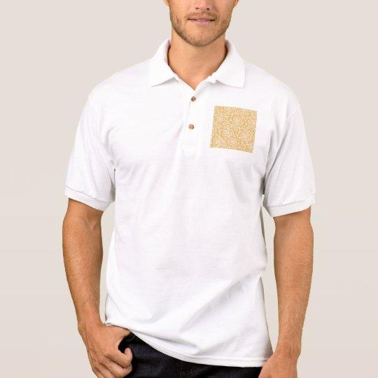 Peonies,floral,white,yellow,pattern,girly,modern,b Polo Shirt
