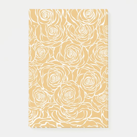 Peonies,floral,white,yellow,pattern,girly,modern,b Post-it Notes