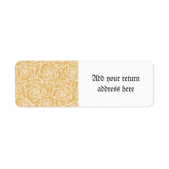 Peonies,floral,white,yellow,pattern,girly,modern,b Return Address Label