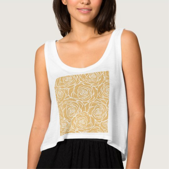 Peonies,floral,white,yellow,pattern,girly,modern,b Singlet