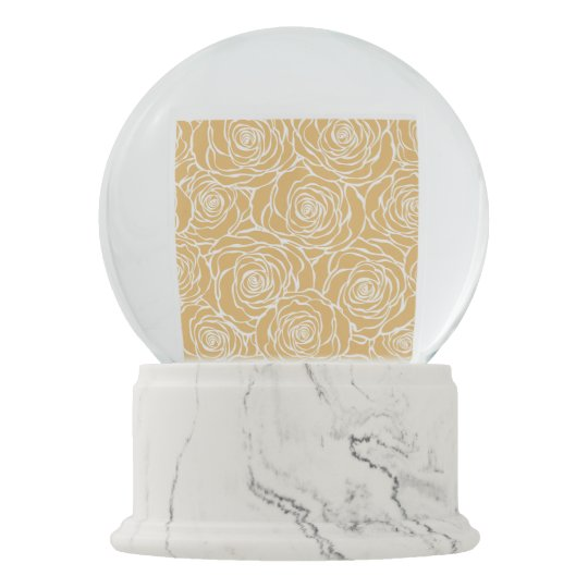 Peonies,floral,white,yellow,pattern,girly,modern,b Snow Globe