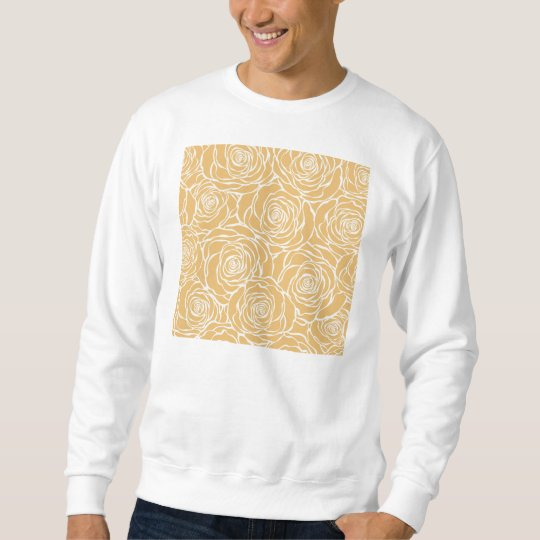 Peonies,floral,white,yellow,pattern,girly,modern,b Sweatshirt