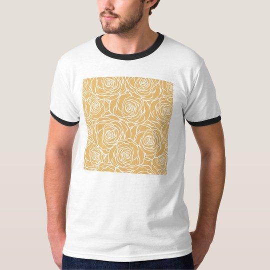 Peonies,floral,white,yellow,pattern,girly,modern,b T-Shirt