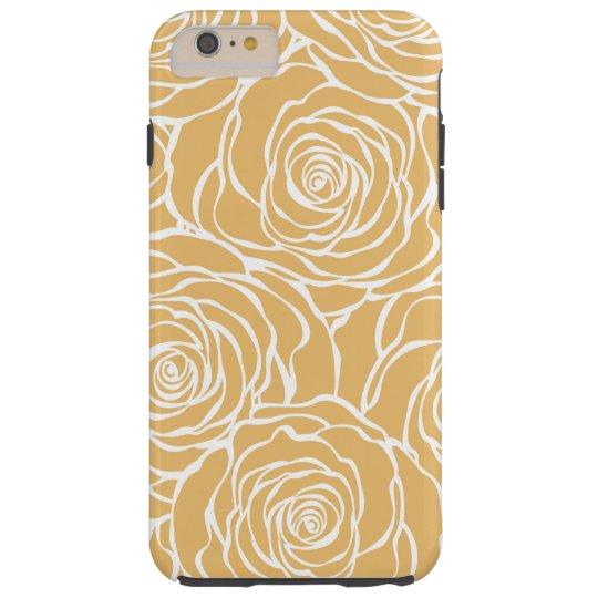 Peonies,floral,white,yellow,pattern,girly,modern,b Tough iPhone 6 Plus Case