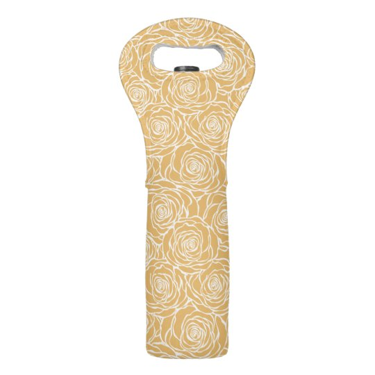 Peonies,floral,white,yellow,pattern,girly,modern,b Wine Bag