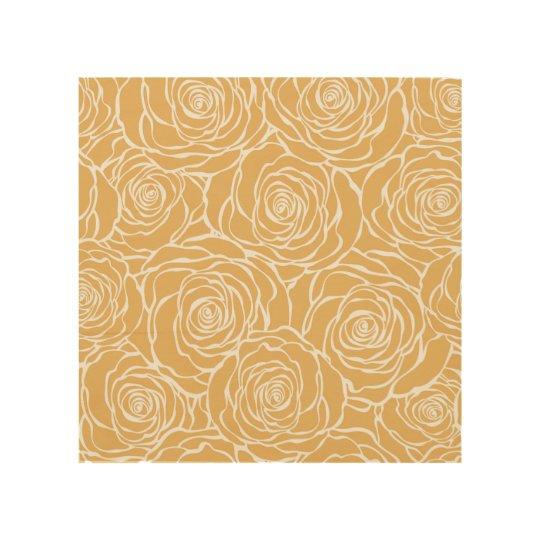 Peonies,floral,white,yellow,pattern,girly,modern,b Wood Wall Decor