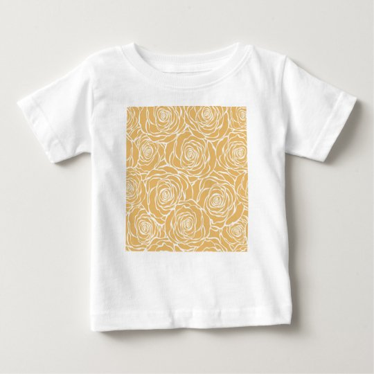 Peonies,floral,white,yellow,pattern,girly,modern Baby T-Shirt