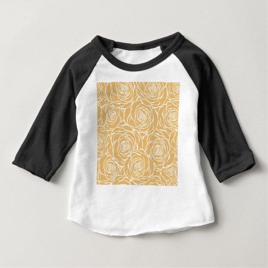 Peonies,floral,white,yellow,pattern,girly,modern Baby T-Shirt