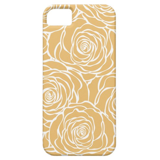 Peonies,floral,white,yellow,pattern,girly,modern Barely There iPhone 5 Case