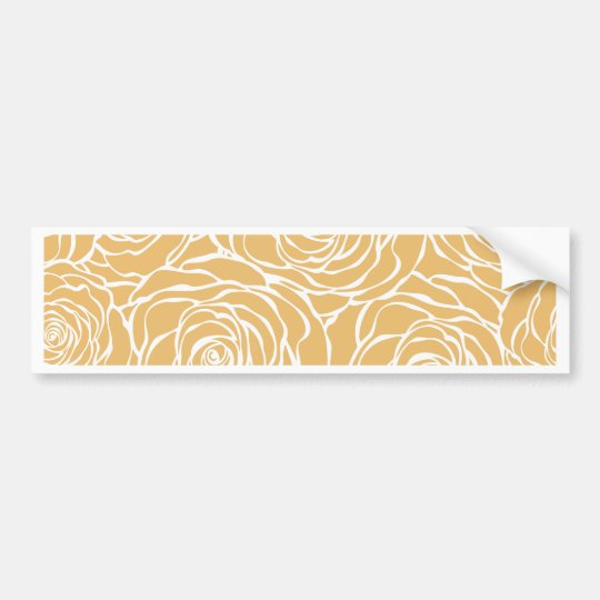 Peonies,floral,white,yellow,pattern,girly,modern Bumper Sticker