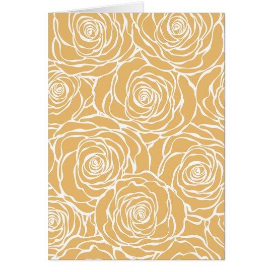 Peonies,floral,white,yellow,pattern,girly,modern Card