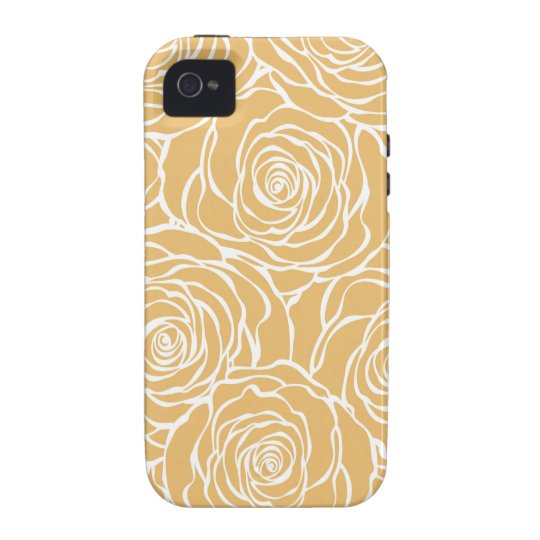 Peonies,floral,white,yellow,pattern,girly,modern Case For The iPhone 4