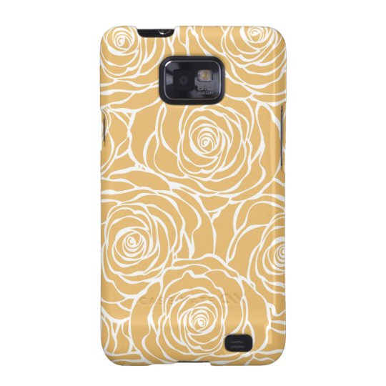 Peonies,floral,white,yellow,pattern,girly,modern Galaxy SII Cases