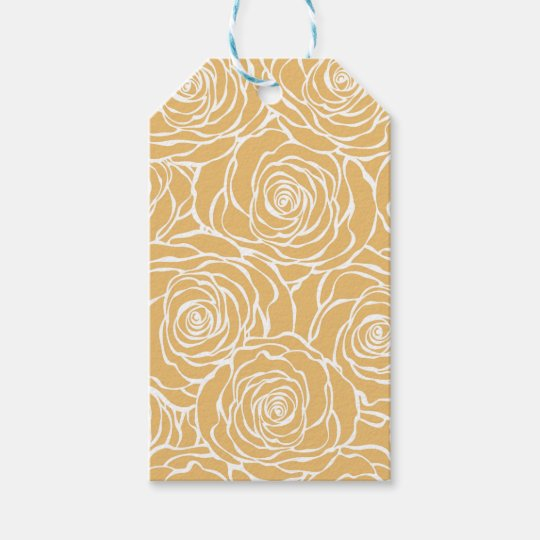 Peonies,floral,white,yellow,pattern,girly,modern Gift Tags