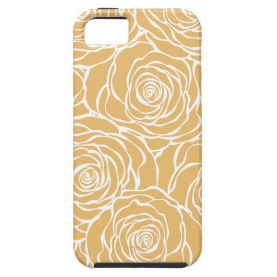 Peonies,floral,white,yellow,pattern,girly,modern iPhone 5 Cover