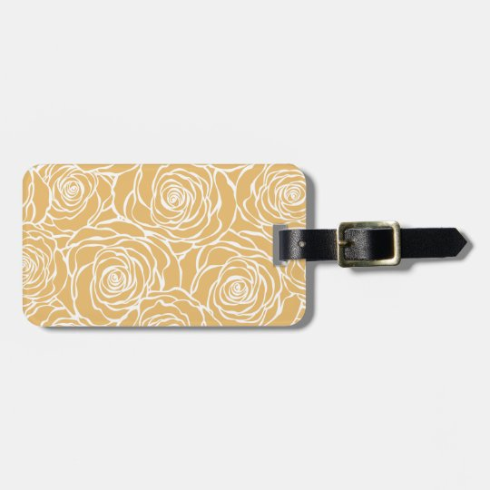 Peonies,floral,white,yellow,pattern,girly,modern Luggage Tag