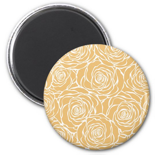 Peonies,floral,white,yellow,pattern,girly,modern Magnet