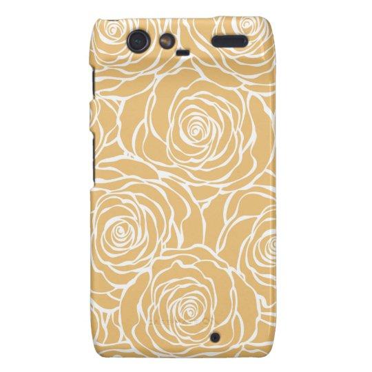 Peonies,floral,white,yellow,pattern,girly,modern Motorola Droid RAZR Case