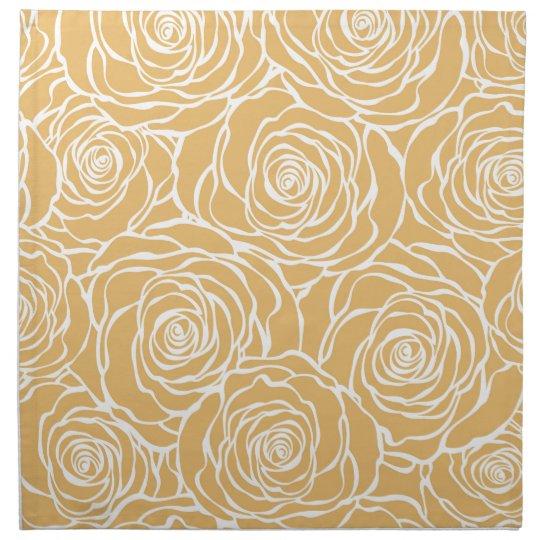 Peonies,floral,white,yellow,pattern,girly,modern Napkin