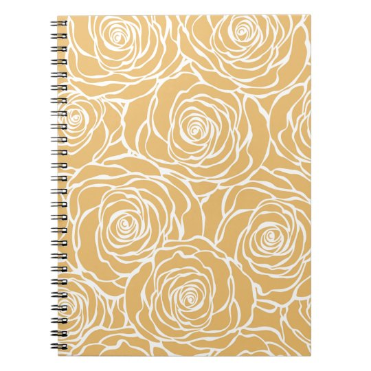 Peonies,floral,white,yellow,pattern,girly,modern Notebook