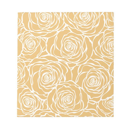 Peonies,floral,white,yellow,pattern,girly,modern Notepad