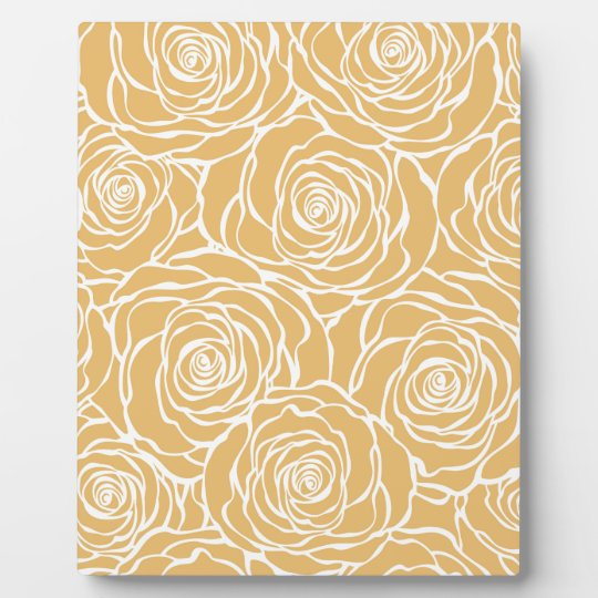 Peonies,floral,white,yellow,pattern,girly,modern Plaque