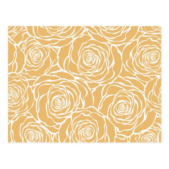 Peonies,floral,white,yellow,pattern,girly,modern Postcard