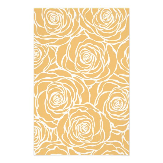 Peonies,floral,white,yellow,pattern,girly,modern Stationery