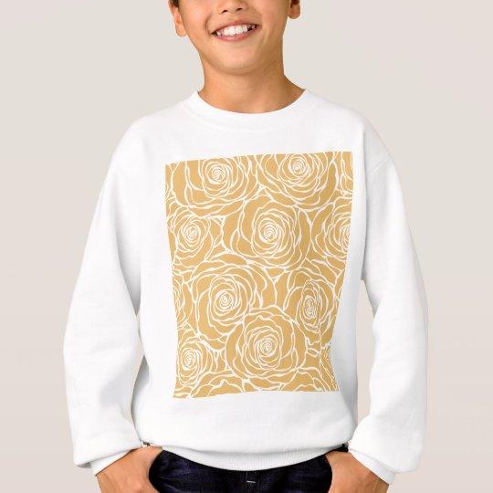 Peonies,floral,white,yellow,pattern,girly,modern Sweatshirt