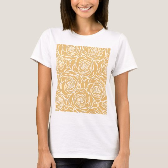 Peonies,floral,white,yellow,pattern,girly,modern T-Shirt