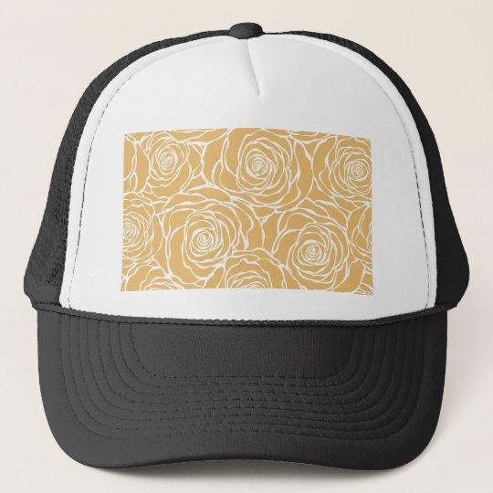 Peonies,floral,white,yellow,pattern,girly,modern Trucker Hat