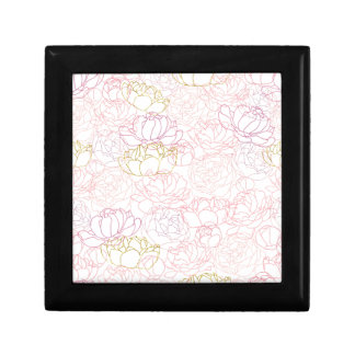 Peonies touch of gold gift box