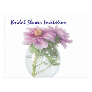Peony Cheap Inexpensive Bridal Shower Party Postcard