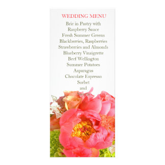 Peony Dreamy Sweet Bouquet Wedding Menu Announcements