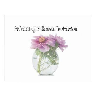 Peony Favors Ideas, Wedding Shower Theme Postcard
