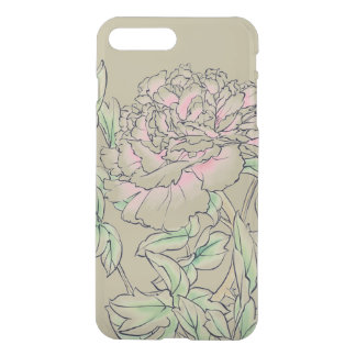 Peony Flower Chinese Ink Drawing iPhone 8 Plus/7 Plus Case