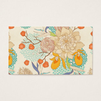 Peony Flower Pattern Business Card
