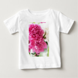 Peony Flowers Close-up Sketch Baby T-Shirt